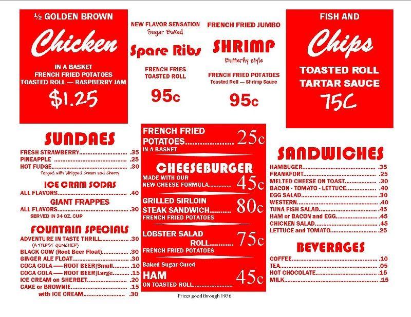 Free S Diner Logo Printable  Menu Items  Halloween Trunk Or