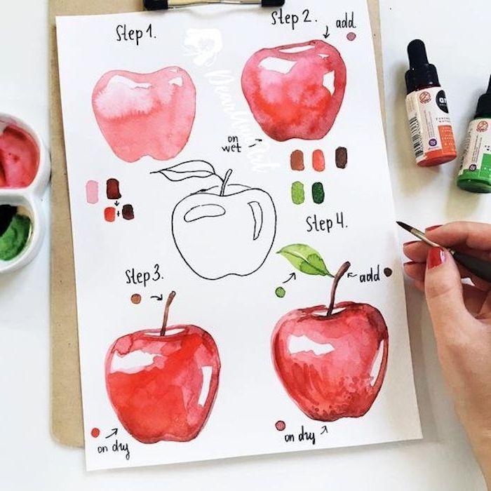 Apprenez A Dessiner Une Pomme Des Instructions Pour Les Debutants