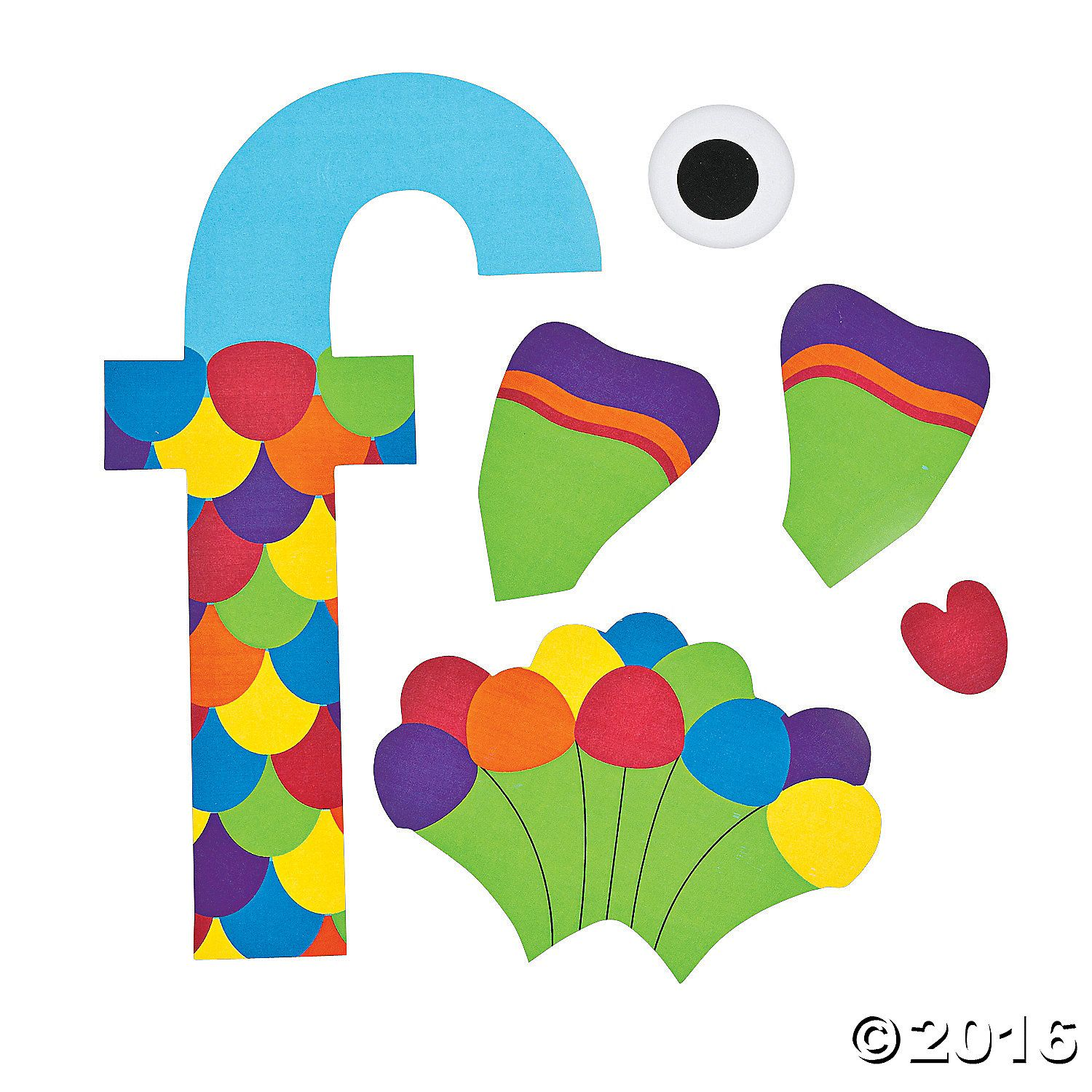 f is for fish letter f craft kit