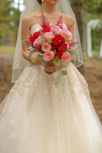 Weddings - Katie & Alec Photography. Gorgeous fall florals, perfect for a southern barn wedding.