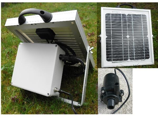 pompage solaire portable 7m a batterie vente en ligne panneaux solaires vosges kits. Black Bedroom Furniture Sets. Home Design Ideas