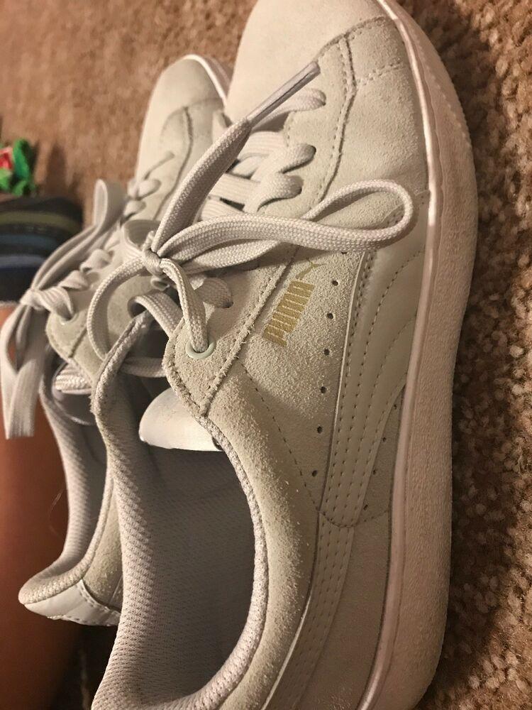 4a54d13fb65 Cute! Womens Black Suede PUMA Platform Sneakers - Shoe Size US 8 M ...