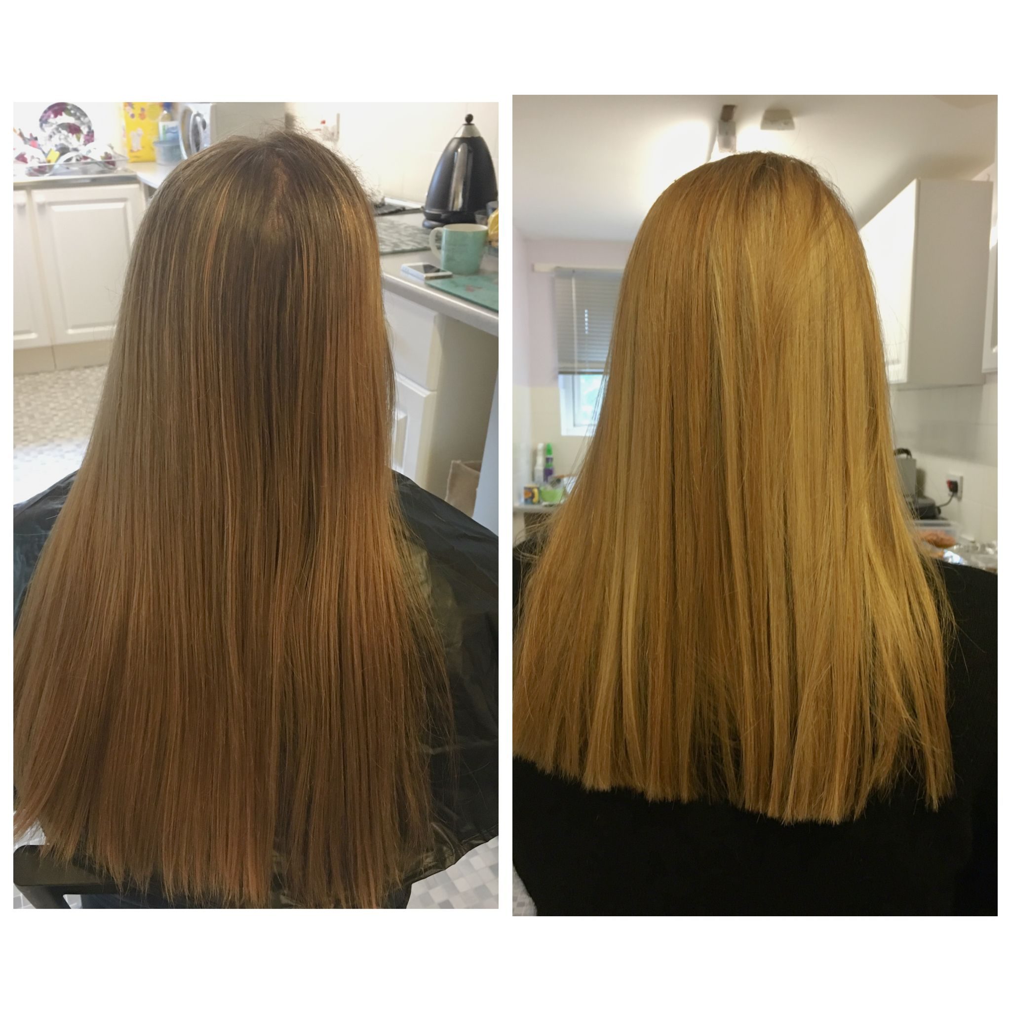 Light Blonde Highlights With A Straight