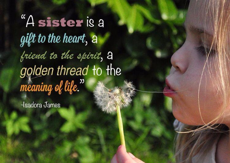 Schönes Zitat Für Schwestern Aus Englisch Schwester