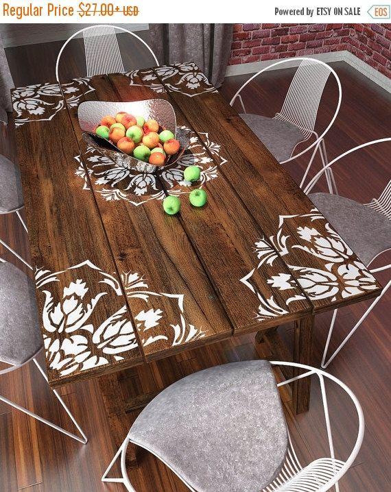 mandala stencil for painting furniture stencil wall. Black Bedroom Furniture Sets. Home Design Ideas