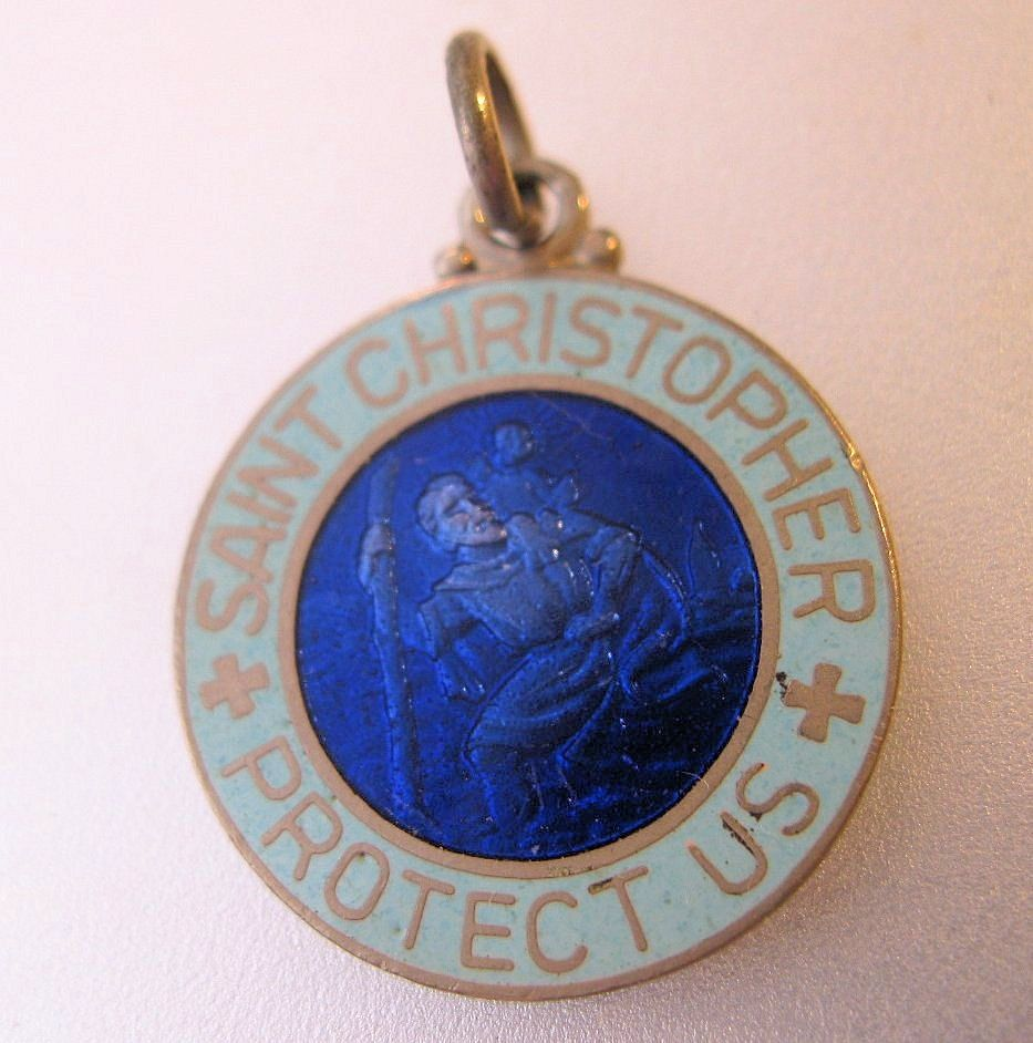 14kt Gold Cross Medal with 3mm Peridot bead.