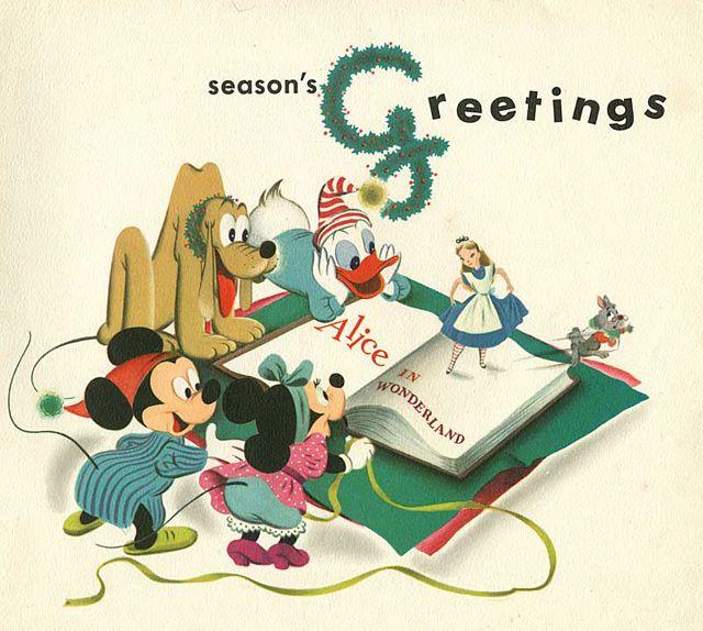 Alice in wonderland walt disney 1951 christmas card design and alice in wonderland walt disney 1951 christmas card m4hsunfo