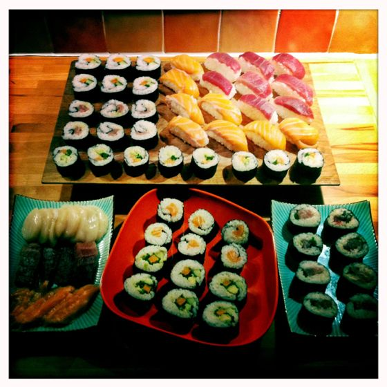 Saturday sushi marathon