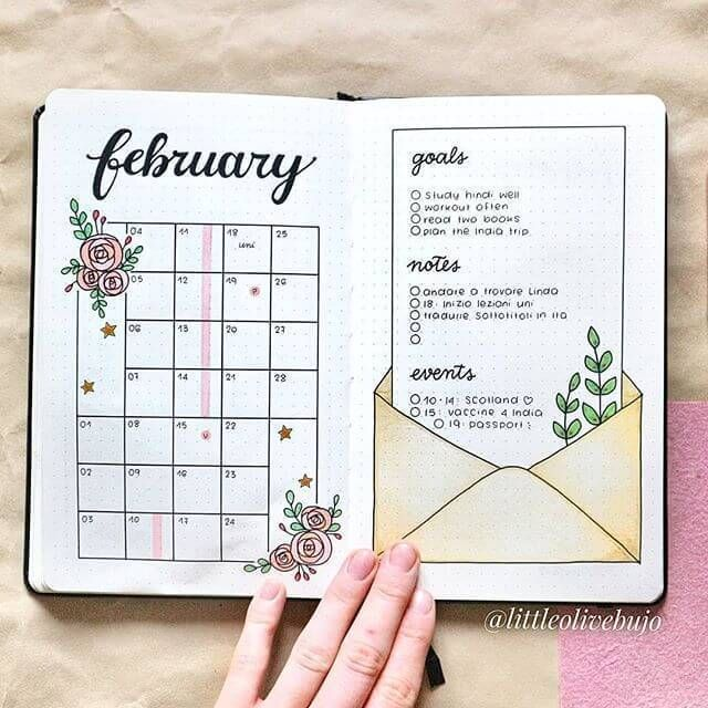 Bullet Journal Monthly Spread Ideas That Are Incredibly Stunning - Sharp Aspirant