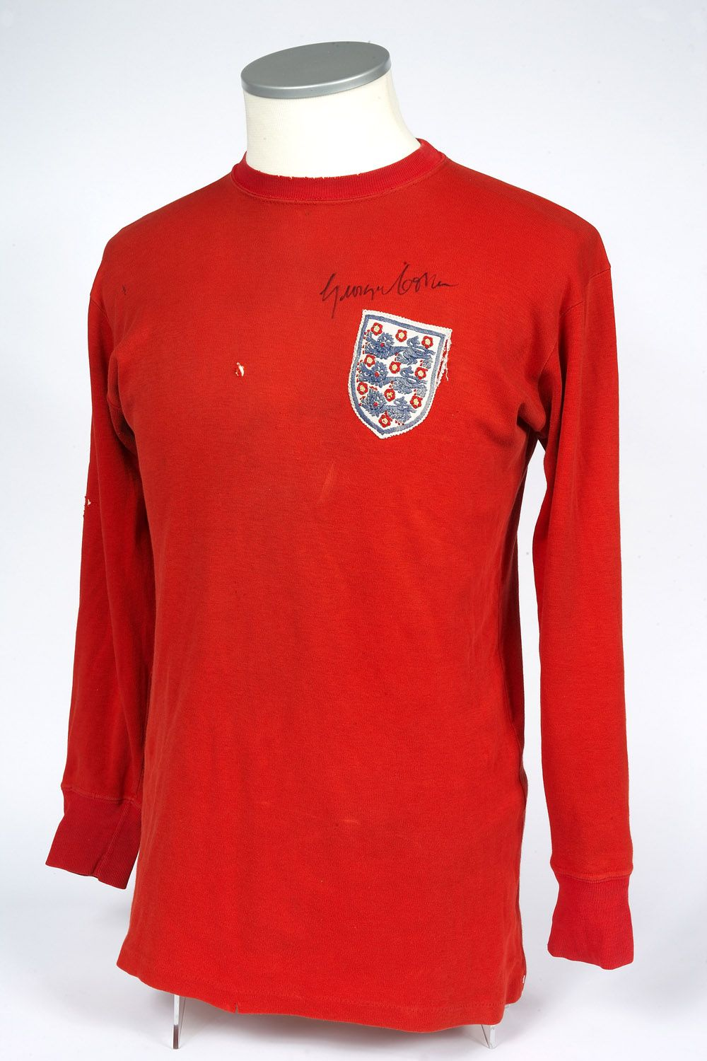 George Cohen England Shirt 1966 World Cup Final Previously On Loan The Nfm Classic Football Shirts England Shirt Long Sleeve Tshirt Men