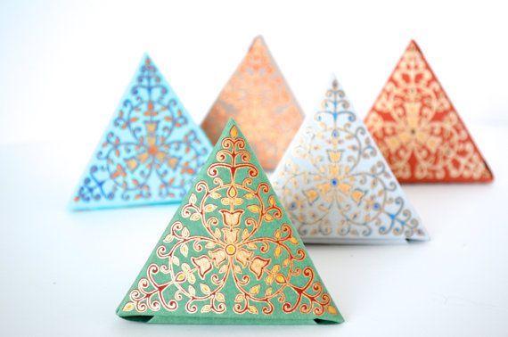 Set of 5 Small Ornate Gift Boxes Wedding Gift Box Wedding Favor