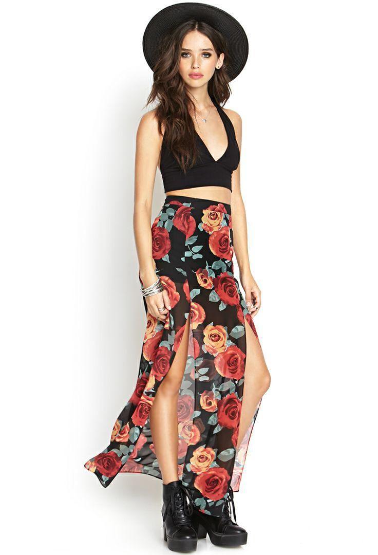 15 Faldas Maxi Faldas Maxifaldas Looks Y Estampadas Con Style TRpqTfrw