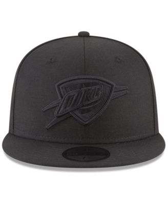 innovative design 574ef 787c0 New Era Oklahoma City Thunder Blackout 59FIFTY Fitted Cap - Black 7 1 4