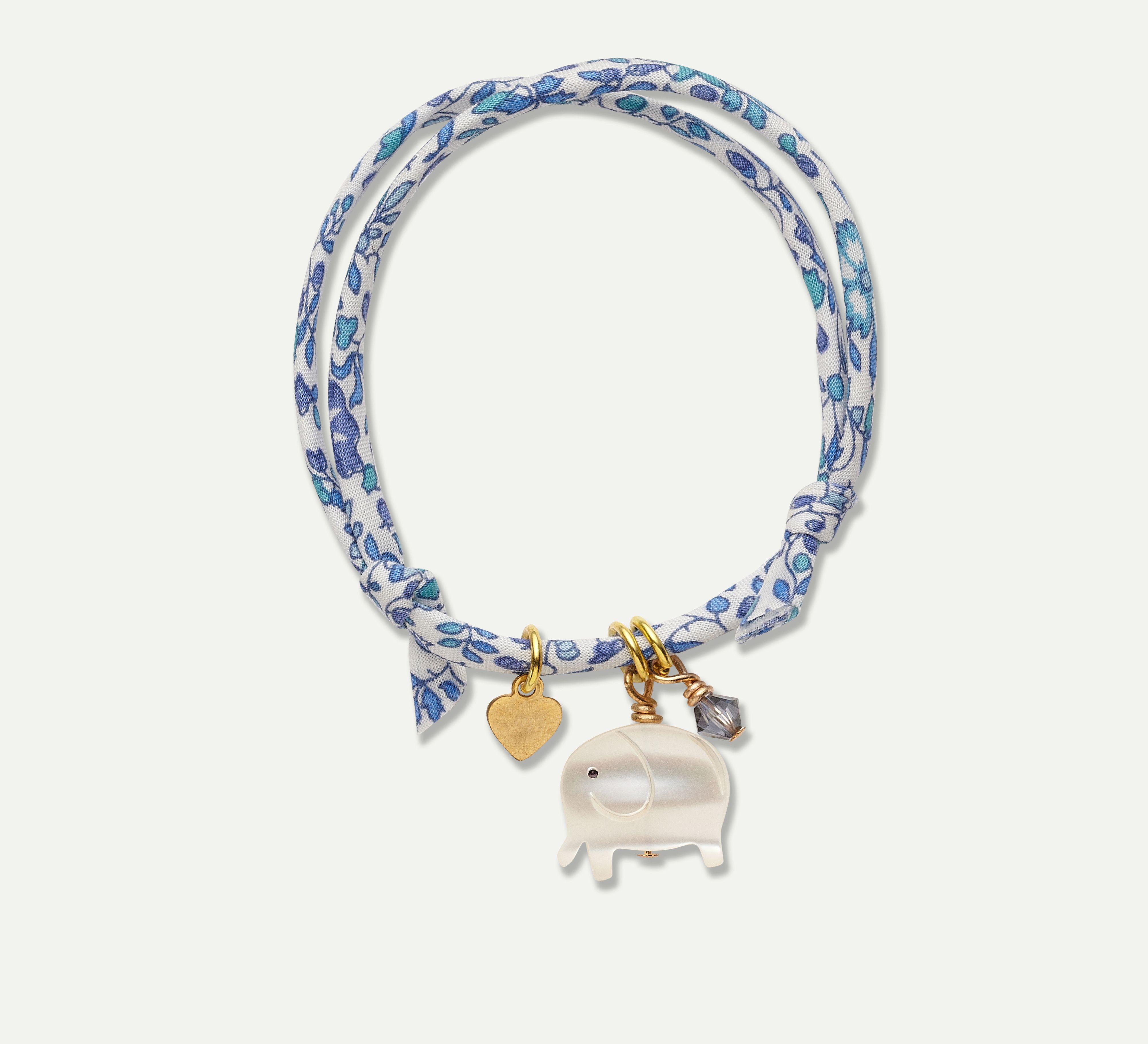 Liberty print bracelet elephant charm mariechantal kids