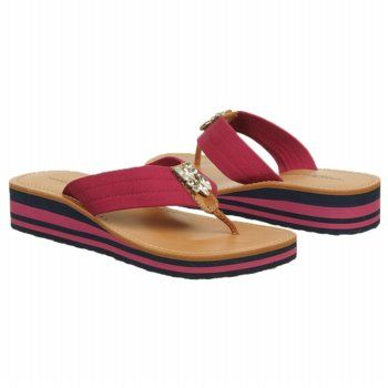 Tommy Hilfiger Women's Roxanne Sandal - Dark Pink shoes.com