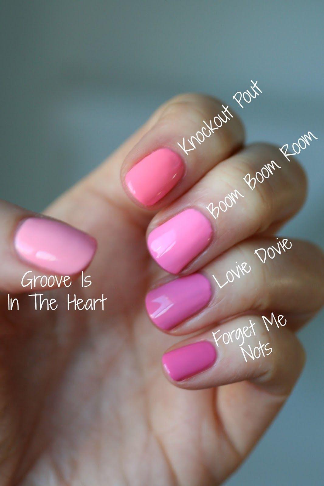 Bubble Nails: Essie Bubble Gum Pinks Comparison