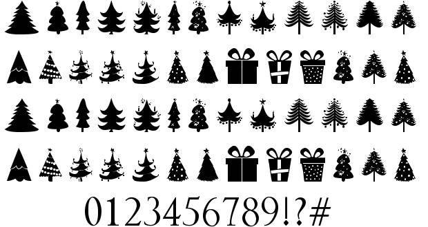 Christmas Trees Font By Zdravko Andreev Christmas Tree Tree Fonts