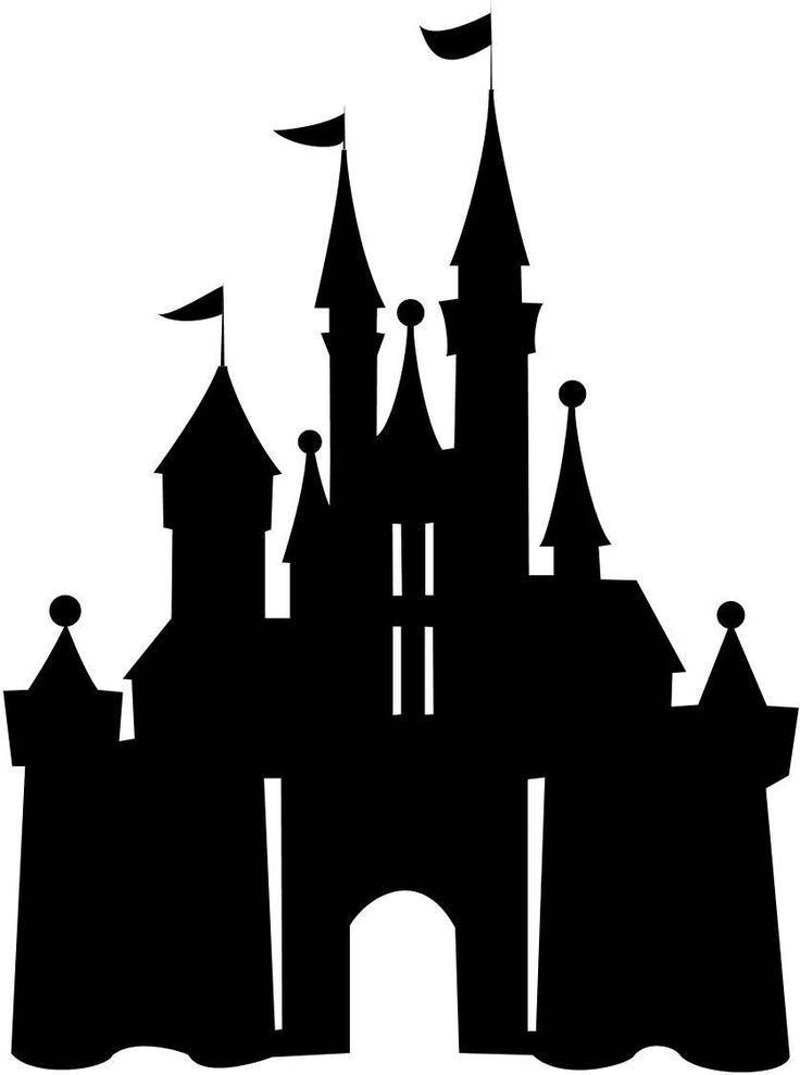 This Vinyl On Trash Can Disney Castle Silhouette Disneyland Castle Silhouette Castle Silhouette