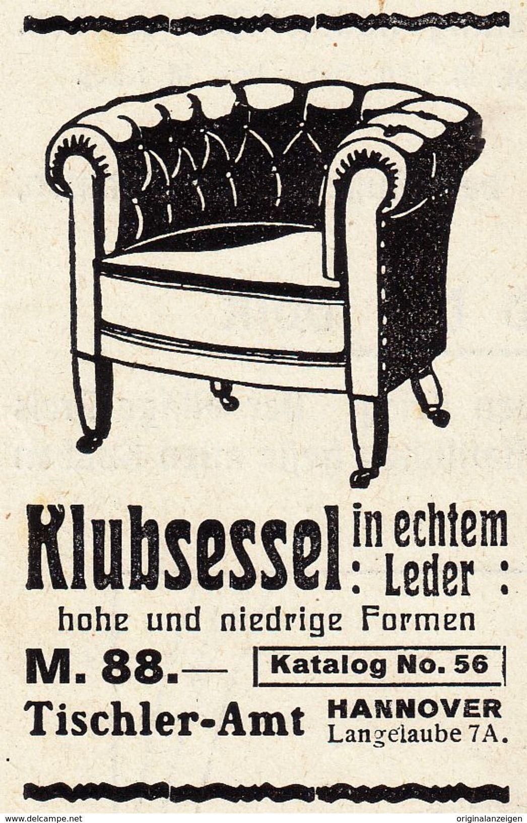 Tischler In Hannover werbung original werbung anzeige 1914 klubsessel tischler amt
