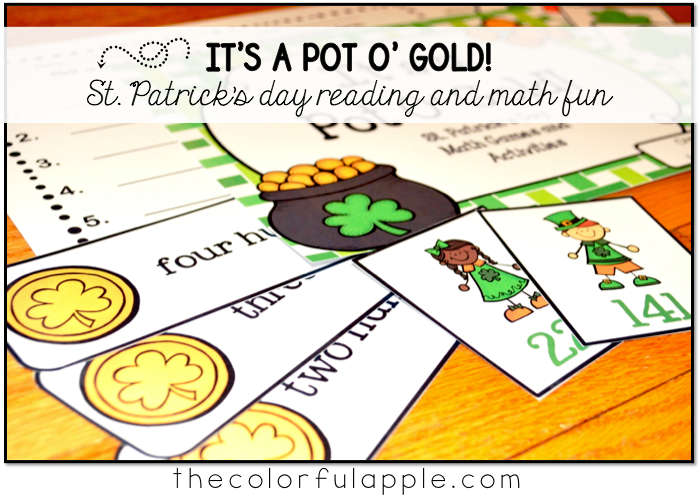 St. Patrick's Day fun for students!  Math and literacy centers, activities and games for the green holiday.