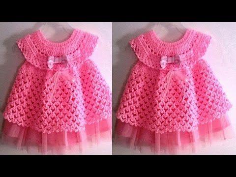 Realizar Estos Vestidos Tejidos A Crochet Para Niñas Y Bebes