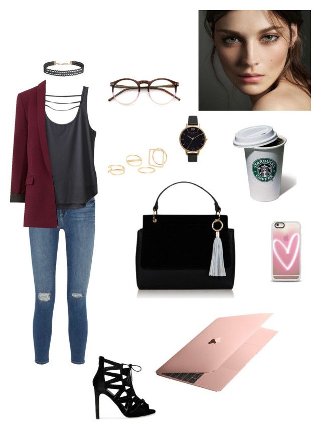 """Right on time"" by haley-oolun on Polyvore featuring mode, Frame Denim, Kavu, MANGO, Wildfox, Olivia Burton, Humble Chic, Burberry et Casetify"