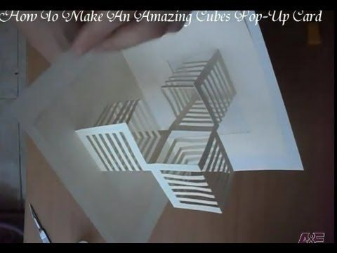 14 How To Make An Amazing Cubes Pop Up Card Origamic Architecture Youtube Paper Art Tutorial Paper Architecture Kirigami Tutorial