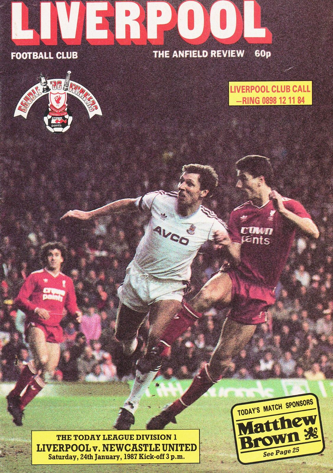 Liverpool Vs Newcastle United 1987 Cover Page In 2020 Newcastle Liverpool Liverpool Football
