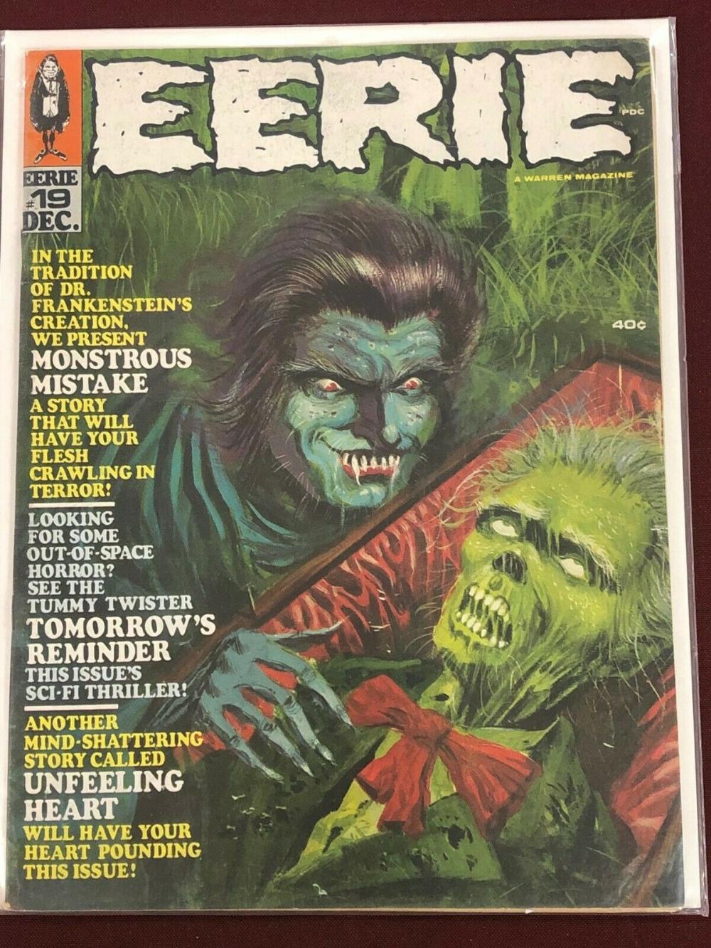 EERIE MAGAZINE 19ハイミッドグレードホラーコミック  eBay #19ハイミッドグレードホラーコミック #eBay #EERIE #Horror Comics covers #MAGAZINE