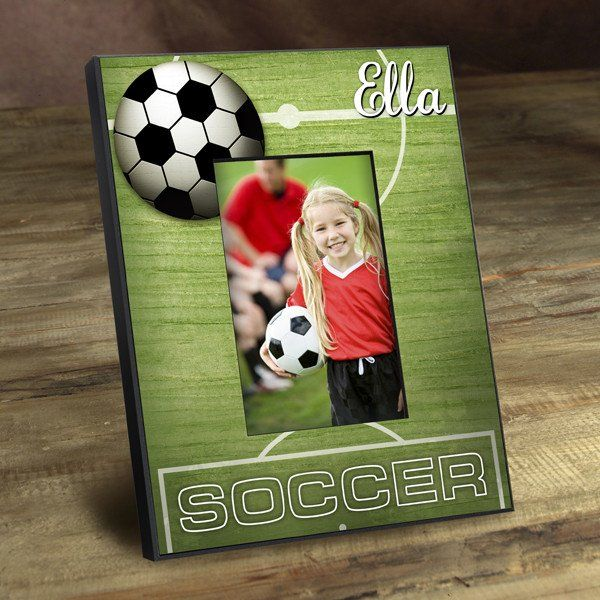 Personalized Kids Soccer Picture Frame With Images Soccer Pictures