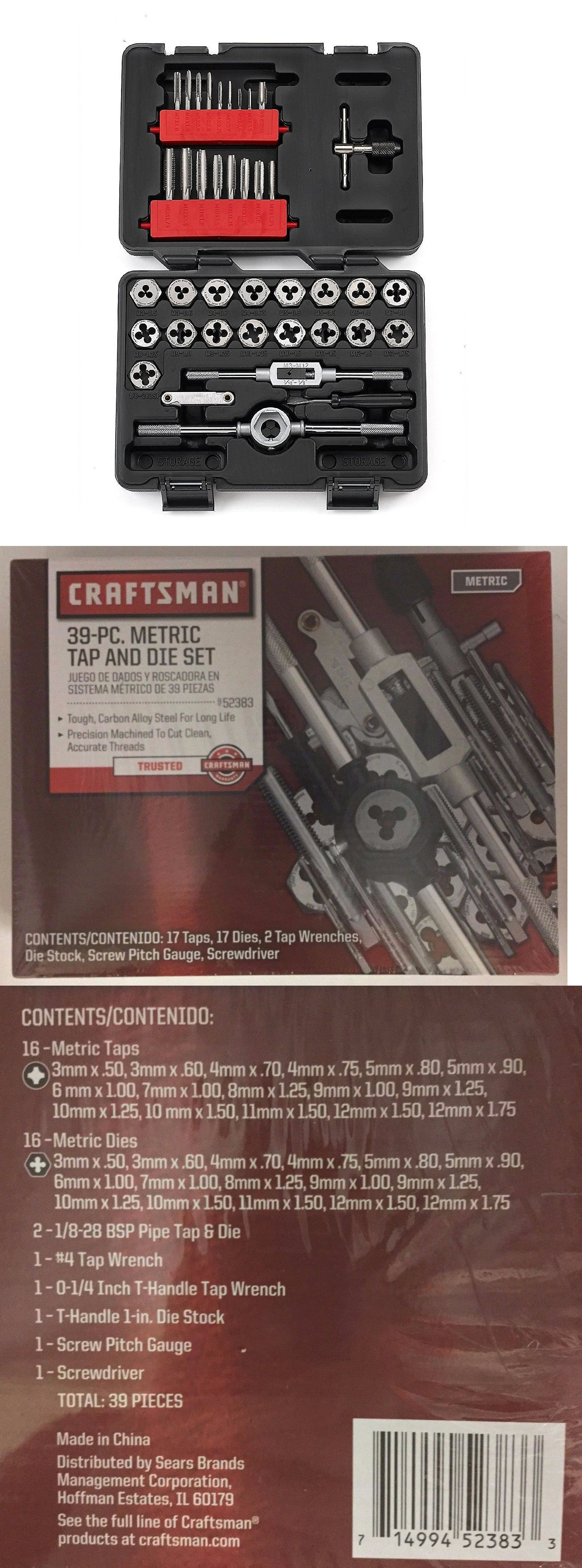 Taps and dies new craftsman piece metric tap and die tough