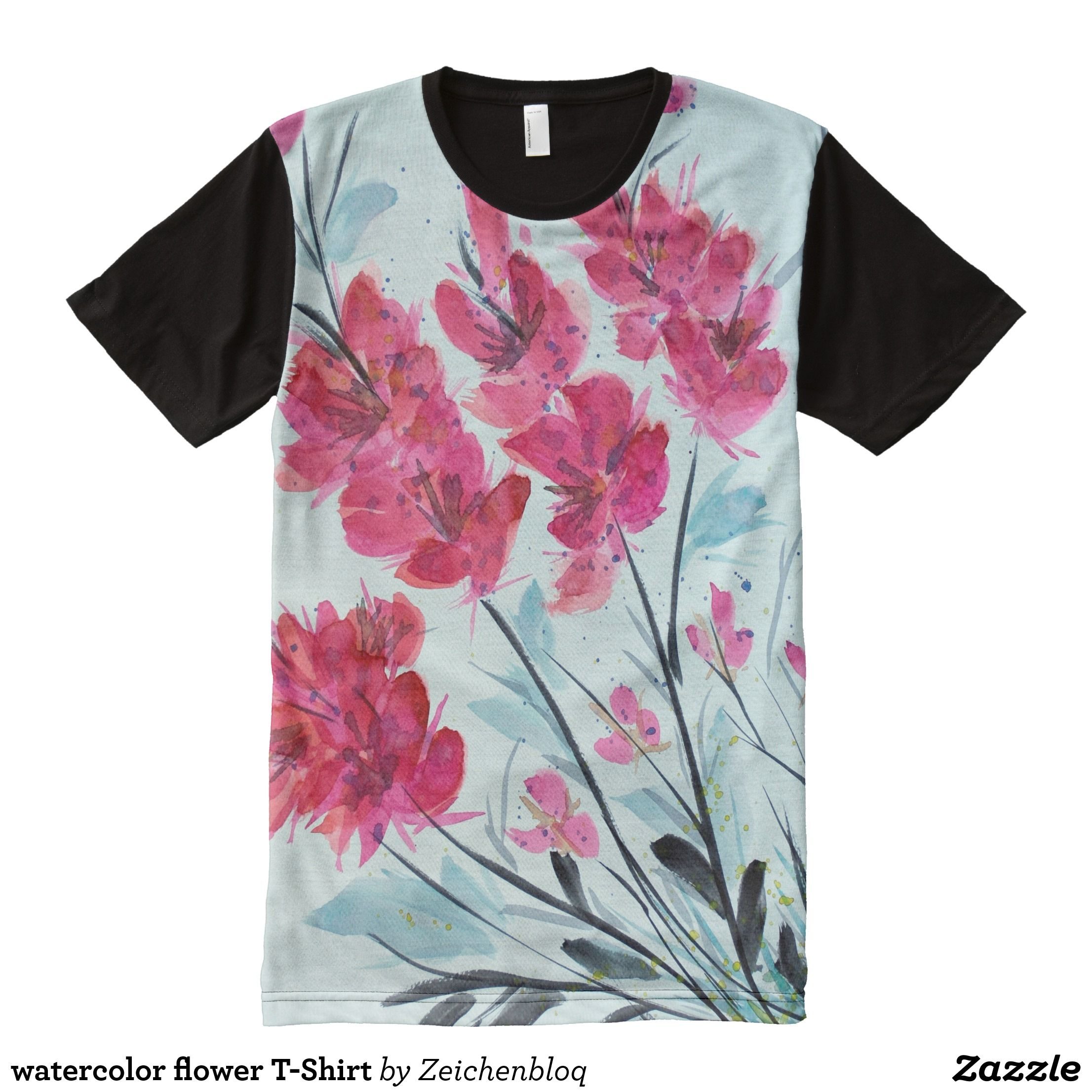 Watercolor Flower T Shirt Visually Stunning Graphic T Shirts By