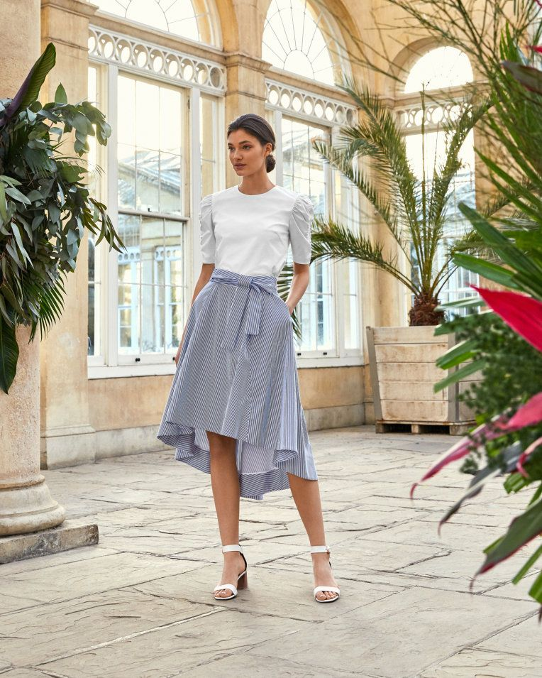 a8bb4cc91 LINZA Striped drop hem cotton skirt | Fashion Trends | Ted baker ...