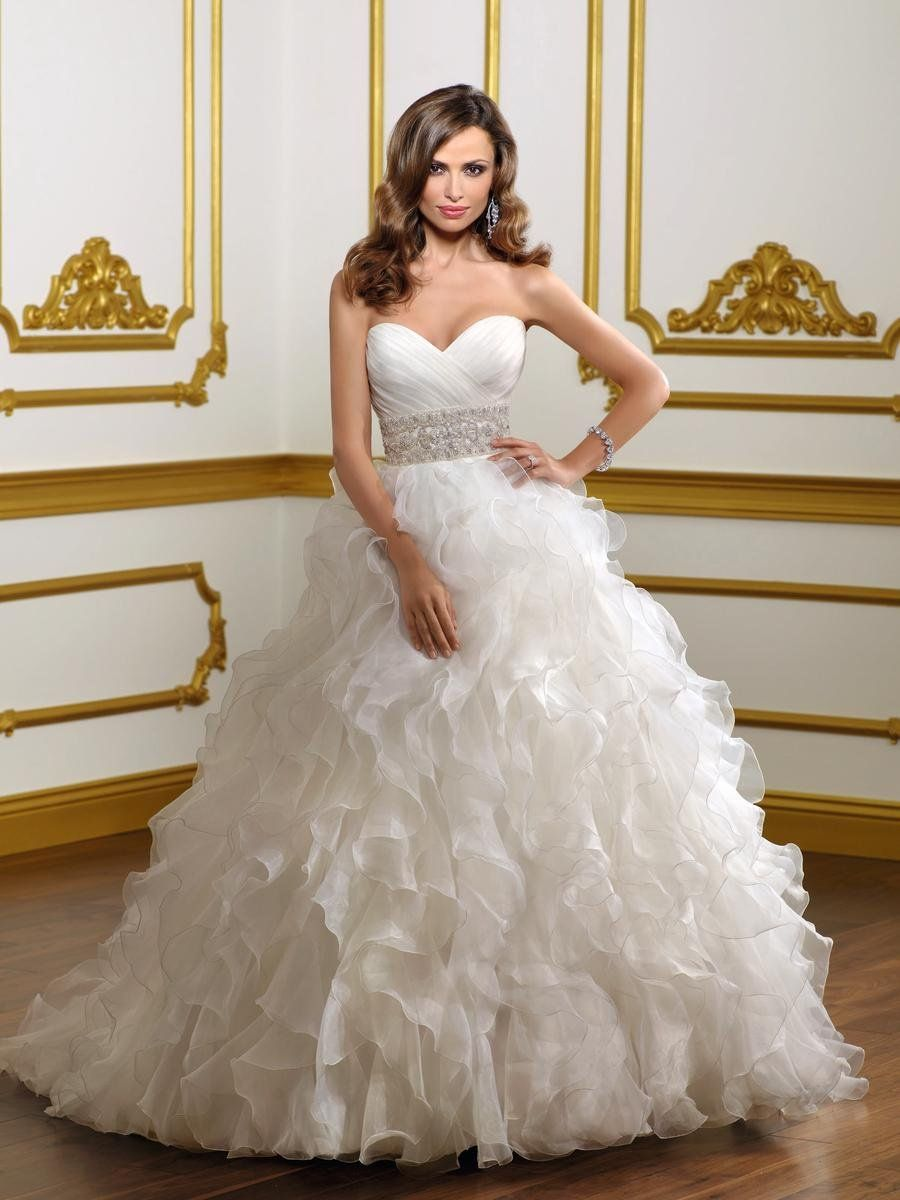 Big Poofy Wedding Dresses With Lace And Beading Applique Taffeta Tiered Skirt Ball Gown Latest: Elegant Strapless Wedding Dresses Puffy At Websimilar.org