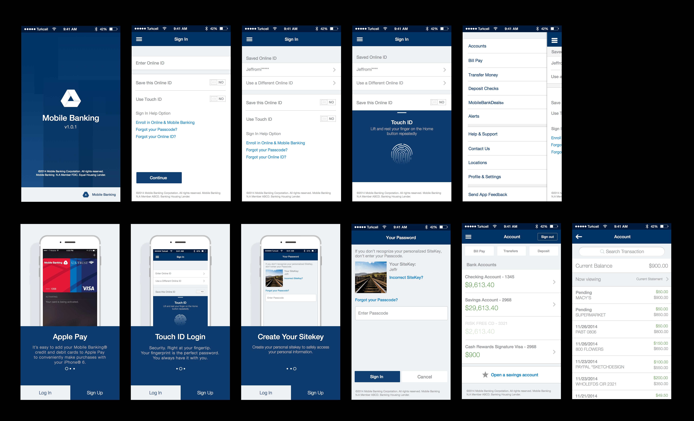 BOA Inspired Mobile Banking App Apps