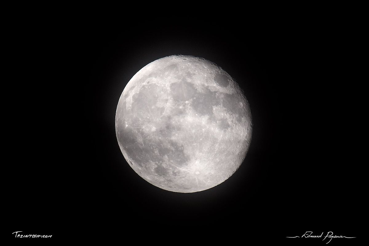 IMG_3510: http://tazintosh.com #FocusedOn #Photo #Canon EF 100-400mm f/4.5-5.6L IS USM #Canon EOS 5D Mark II #Canon Extender EF 2x II #Cratère #Crater #Lune #Moon #Nuit #Night