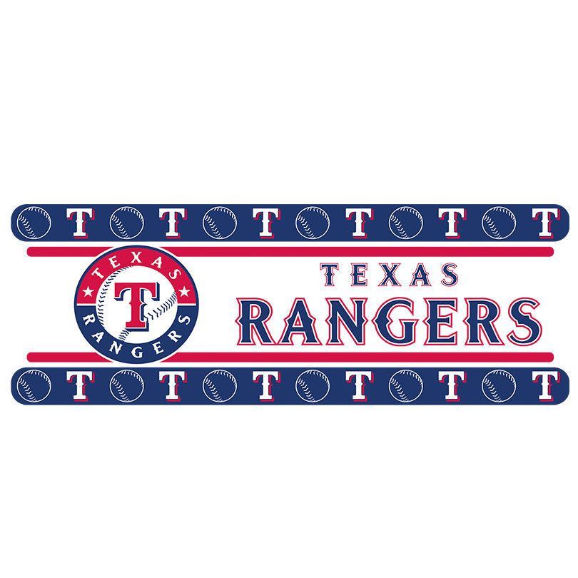Texas Rangers MLB Peel And Stick Wall Border Decor