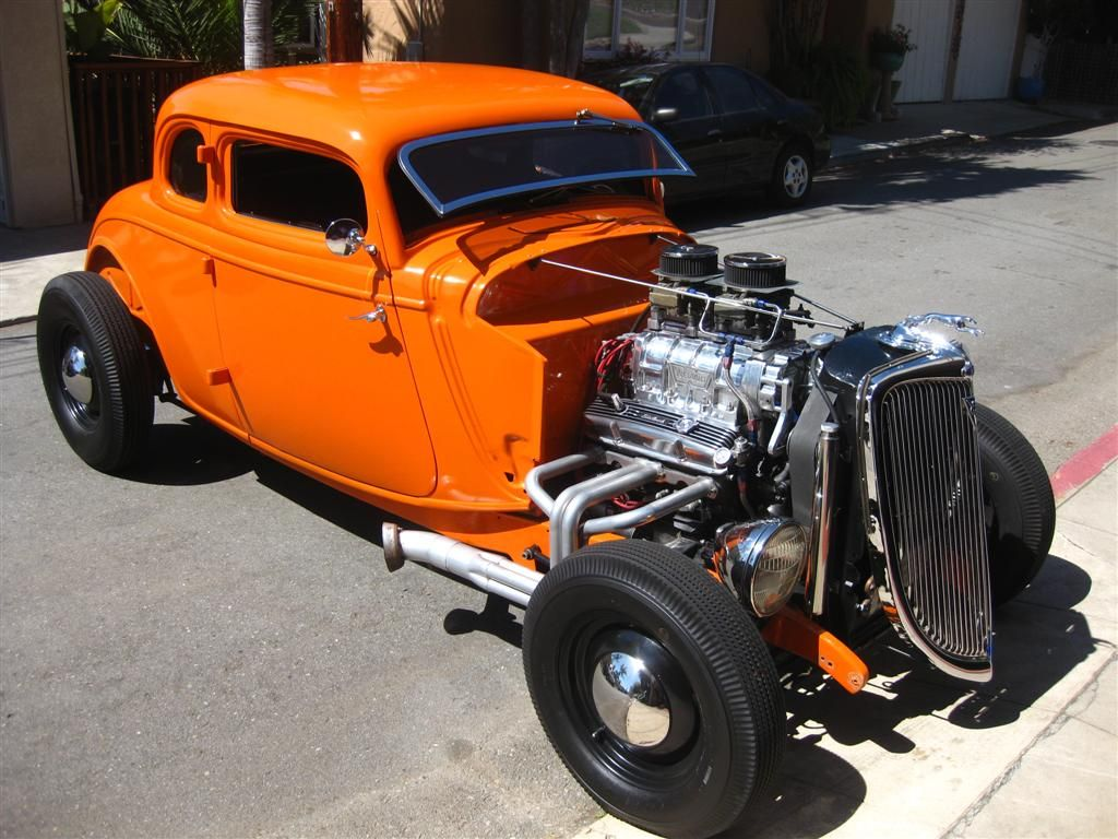 I love orange power. (1934 Ford Coupe hot rod) | Bryan\'s Car ...