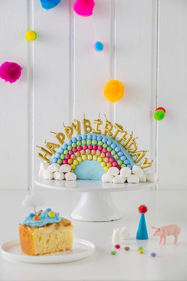 Regenbogenkuchen zum Kindergeburtstag #geburtstagskuchenkinder