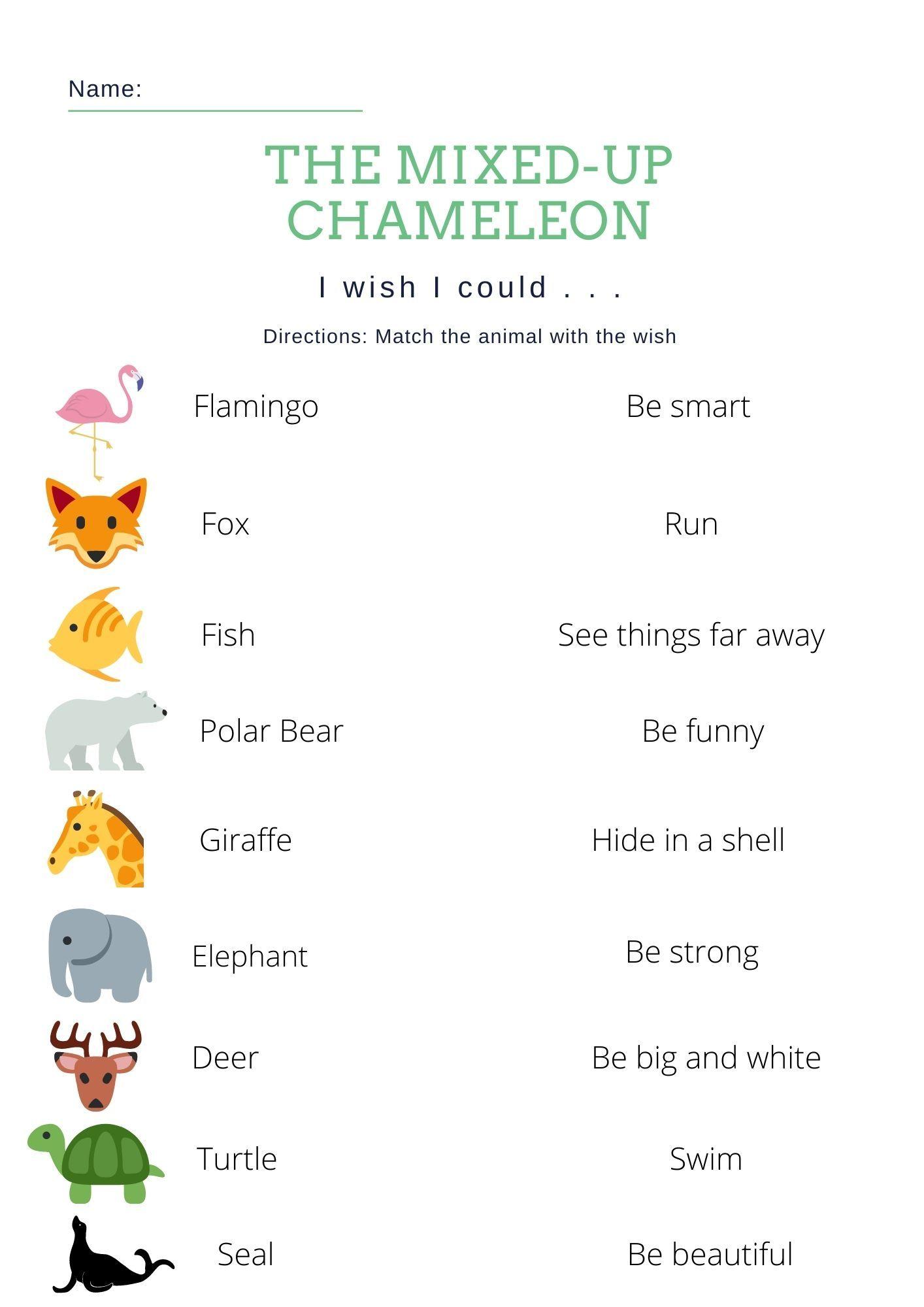 Eric Carle S Mixed Up Chameleon Esl Worksheet I Wish I