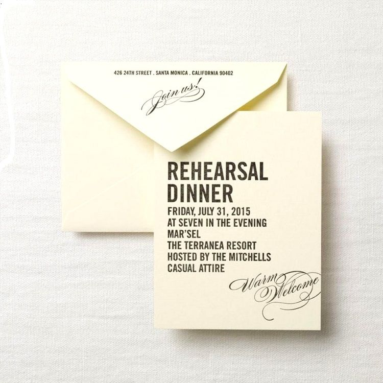 Rehearsal Dinner Invitation Wording Etiquette Party Invitation