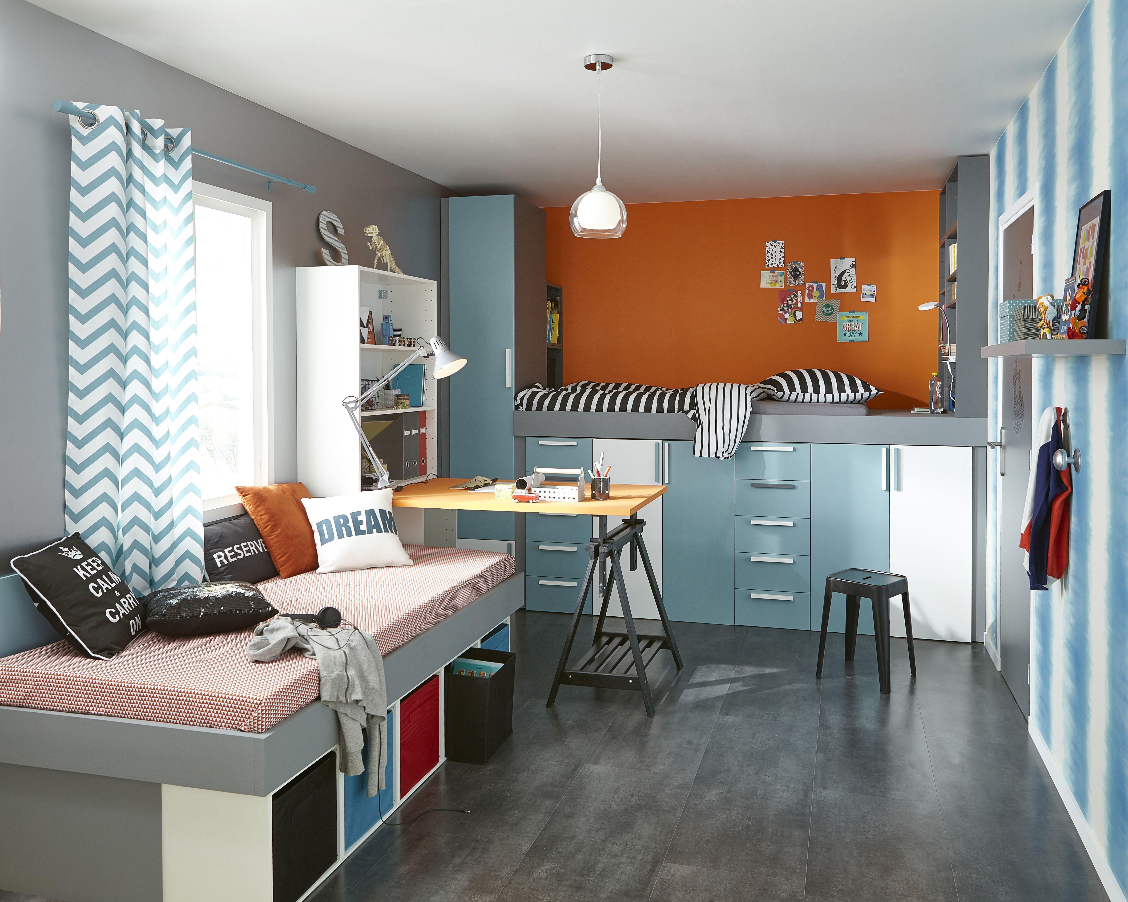 Une chambre d\'ado colorée pour des rêves apaisés ! Adoptez le ...
