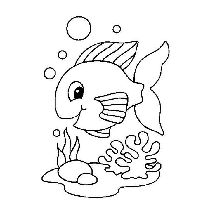 Coloriage poisson rouge a imprimer gratuit kids painting - Dessin poisson ...