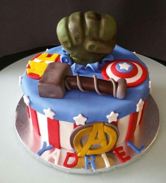 Avengers cake my cakes Pinterest Avenger cake Cake and