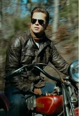 Brad My Absolute Favourite Shot Of Him From The Curious Case Of Benjamin Button Love It Brad Pitt Celebrities Leather Jacket Indian Scout