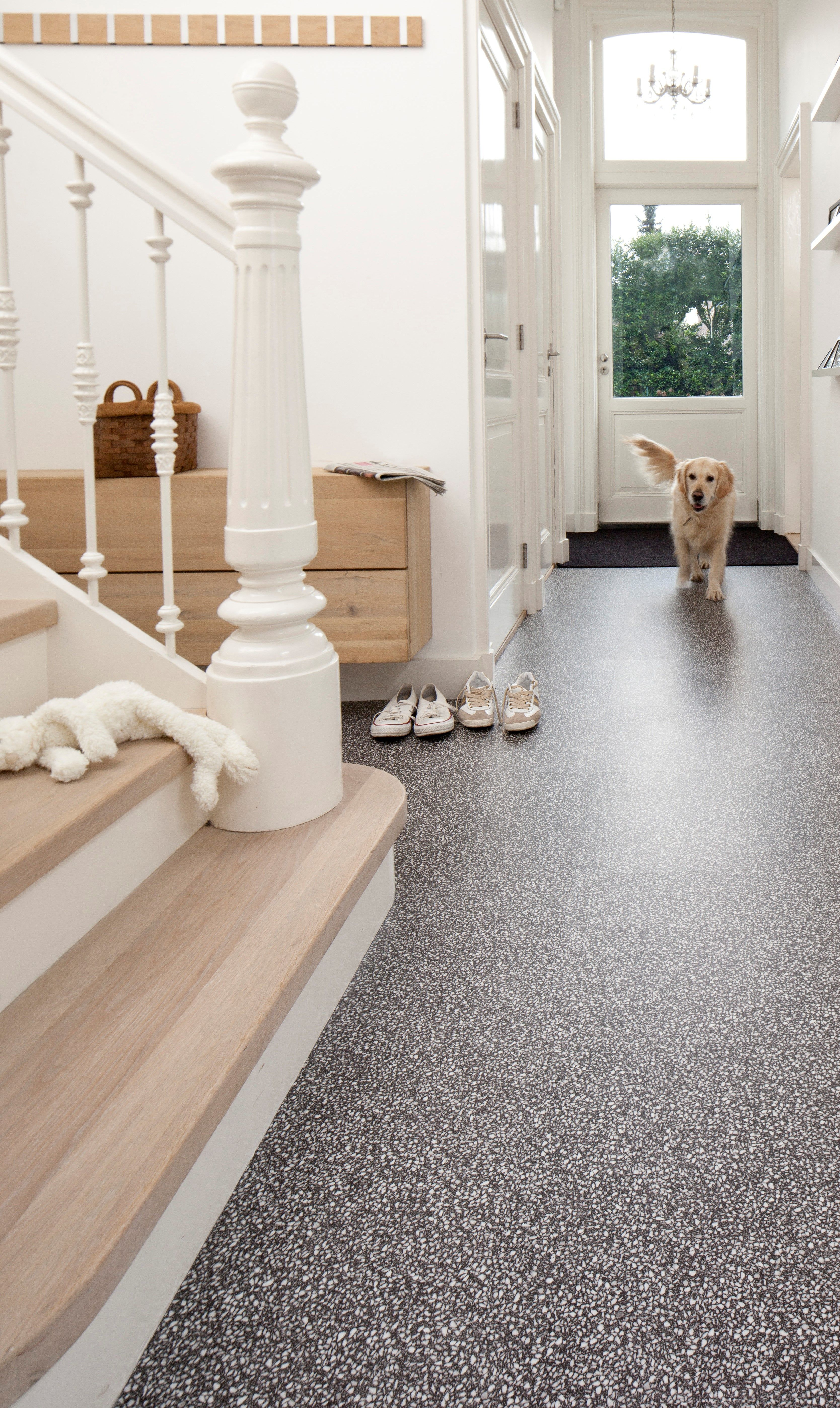 Tile In Terrazzo Anthracite Comfortable Warm And Soft