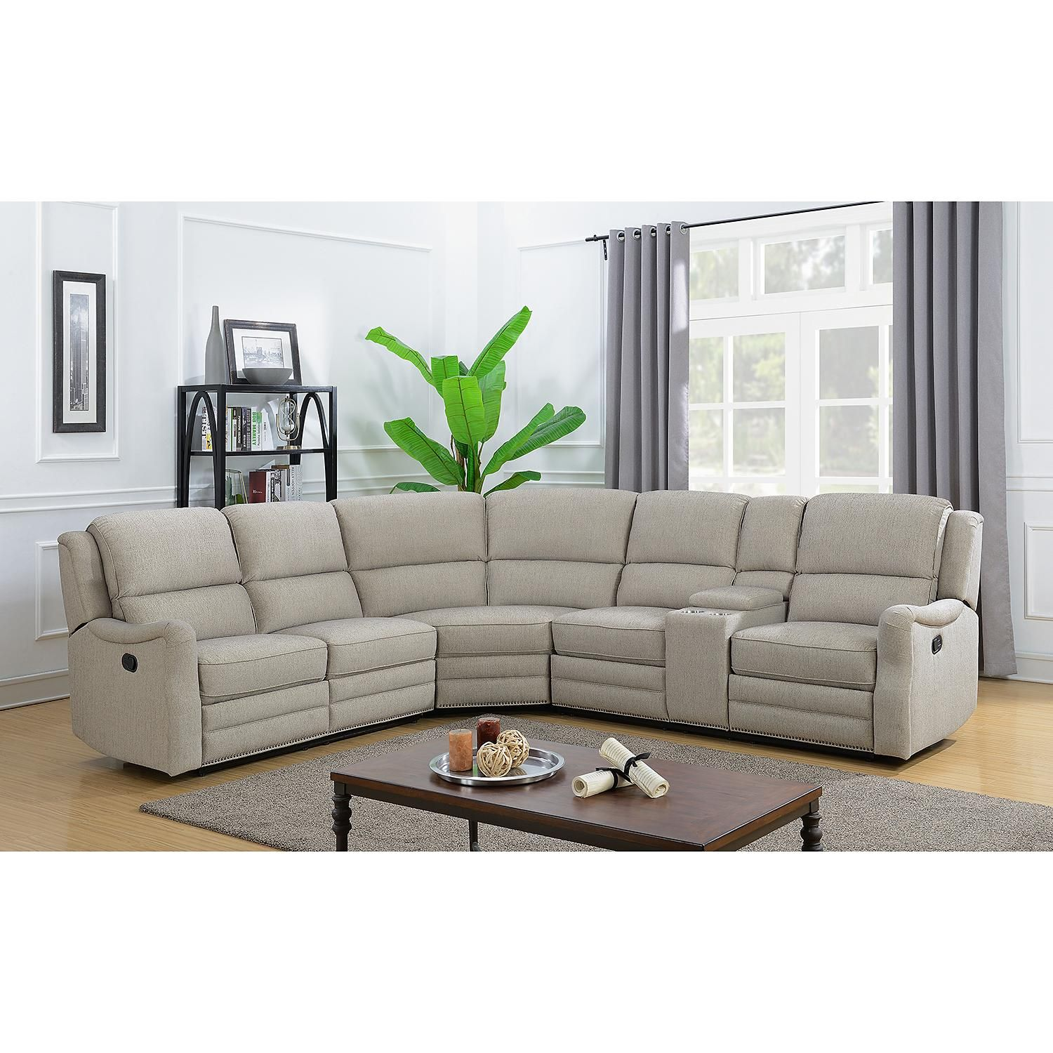 Emma 3 Piece Reclining Sectional In