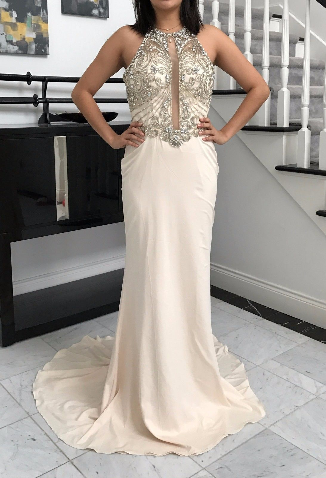 Cool brand new luxury long prom dress pageant gown in stock