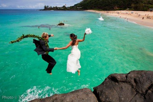 The only way I would ever have a beach wedding