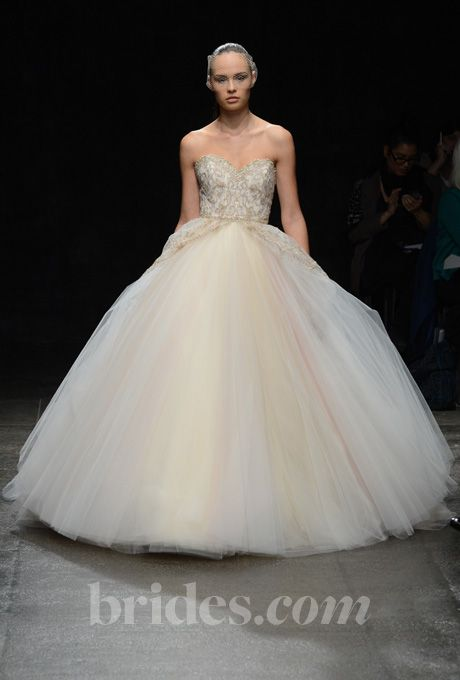 Lazaro multi colored wedding dress